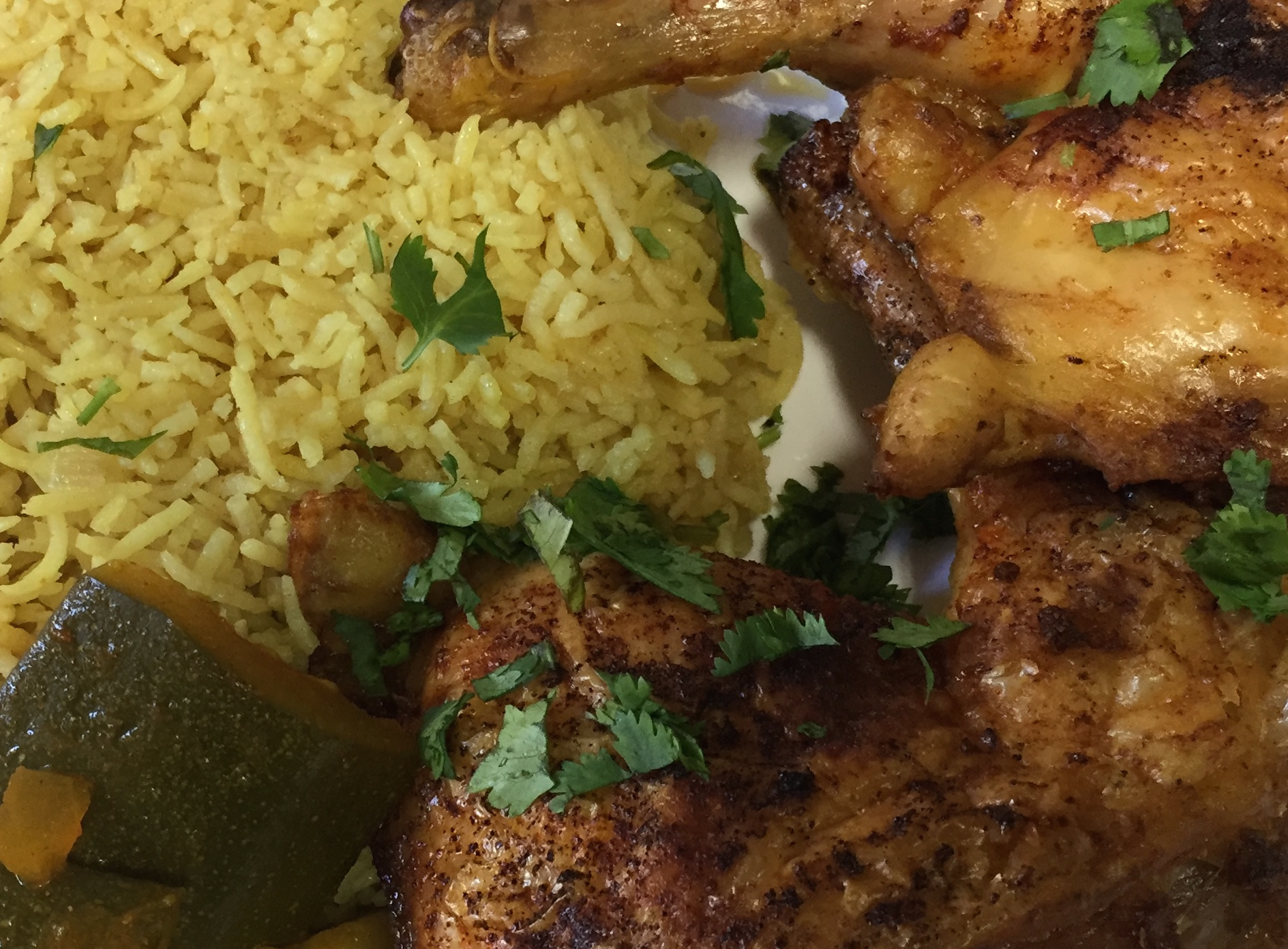 Yemeni food chicken rice