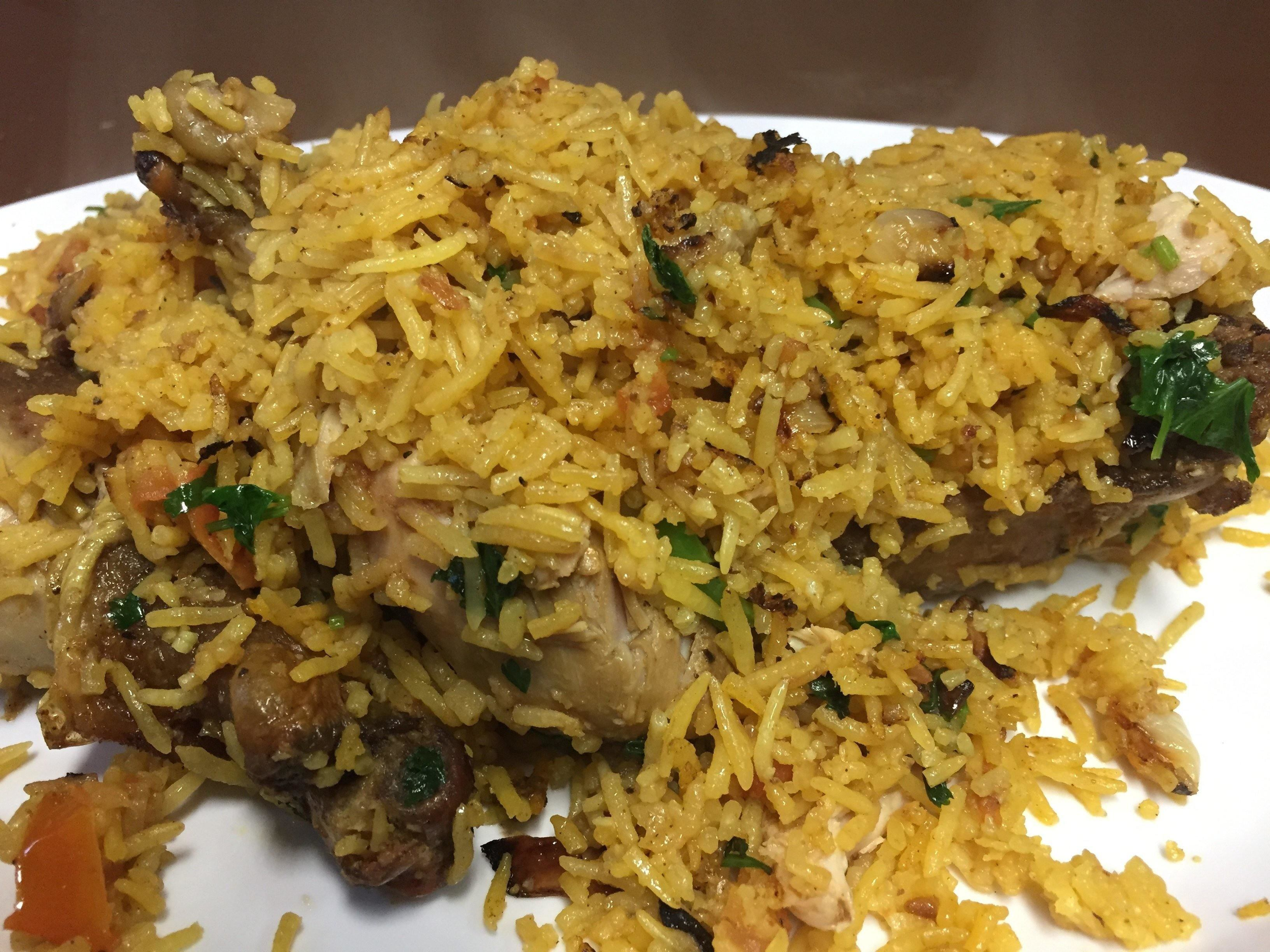 Yemeni food rice dish