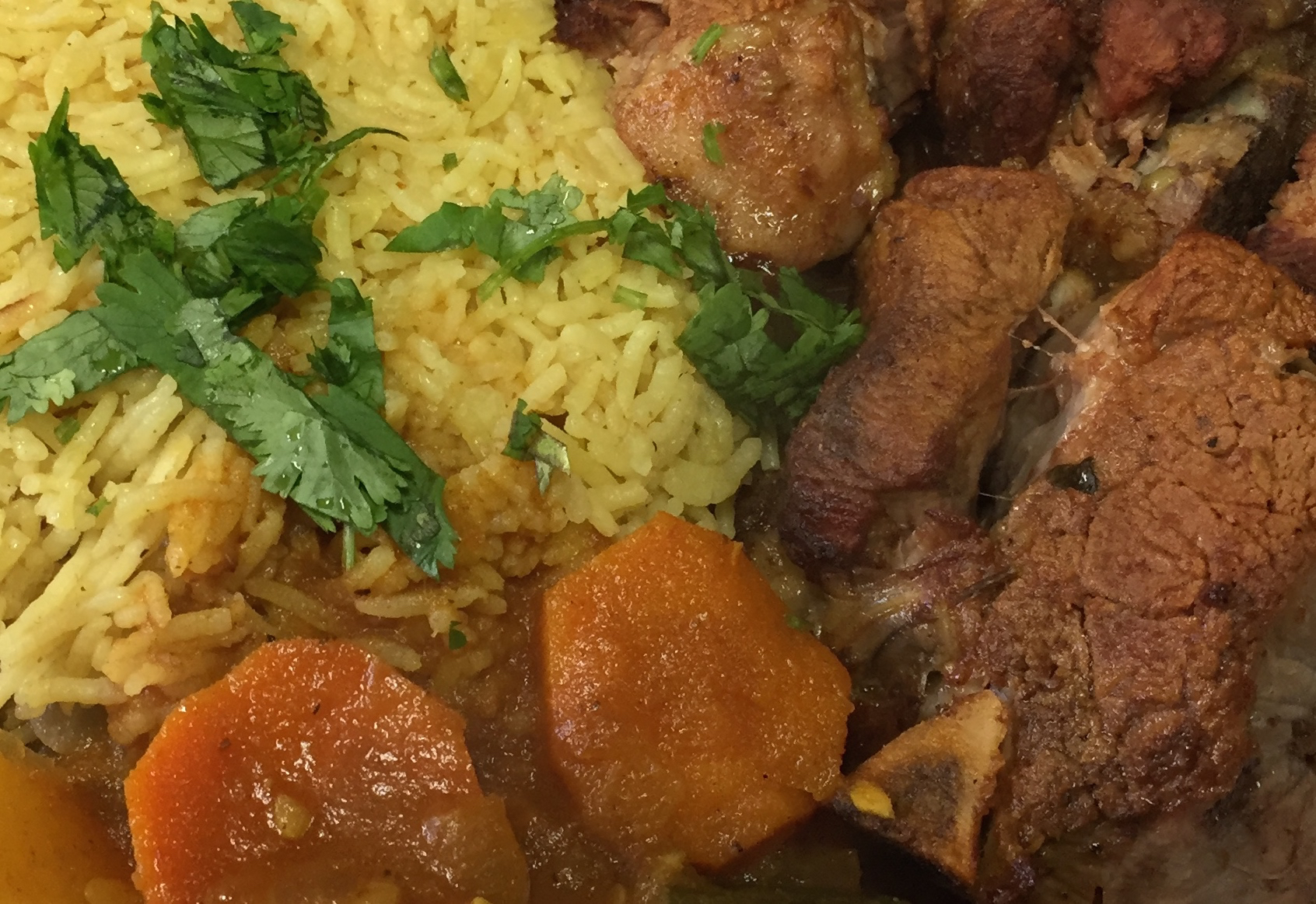 Yemeni food lamb rice carrots
