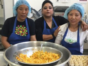 Bini and crew making Nepalese food