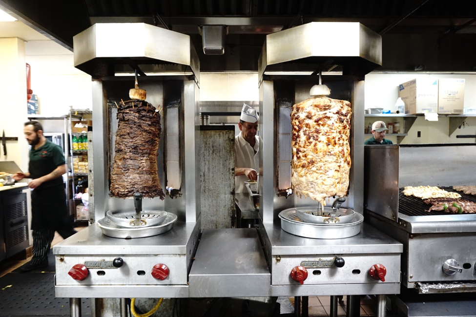 Lebanese food - meat on a spit