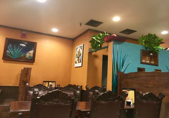 Inside Cazadores Mexican restaurant